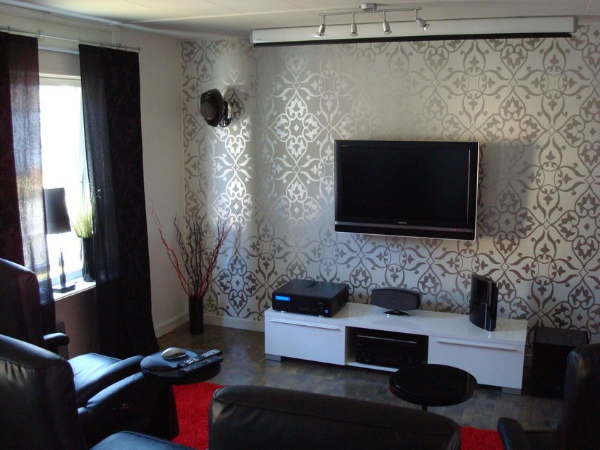 Modern Living Room TV Wall in White Color luxazin