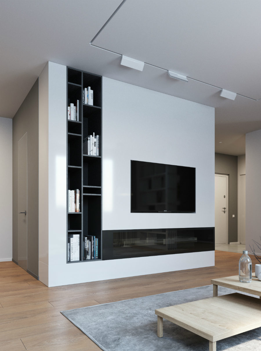 TV wall storage simple and amazing design luxazin