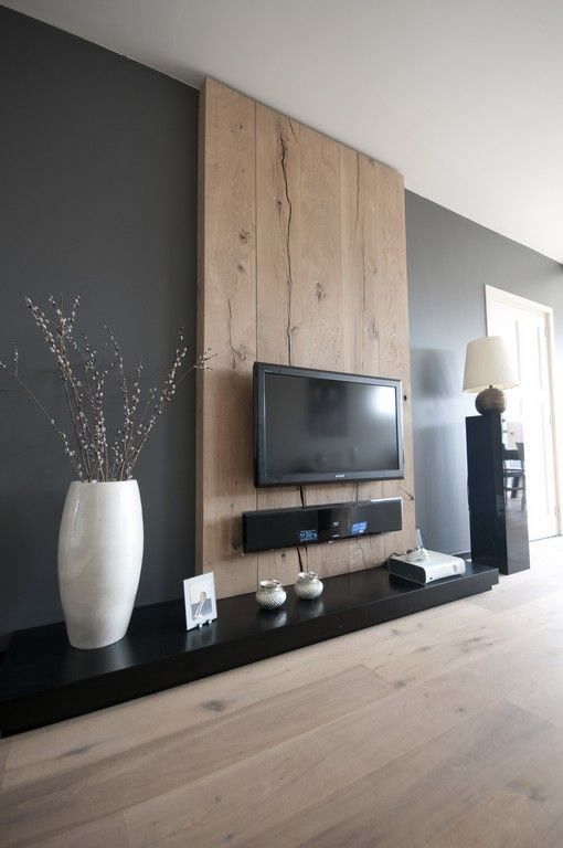 amazing tv wall decor with wood and gorgeous colour luxazin