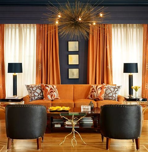 contemporary design with navy and orange color beautiful pendant luxazin