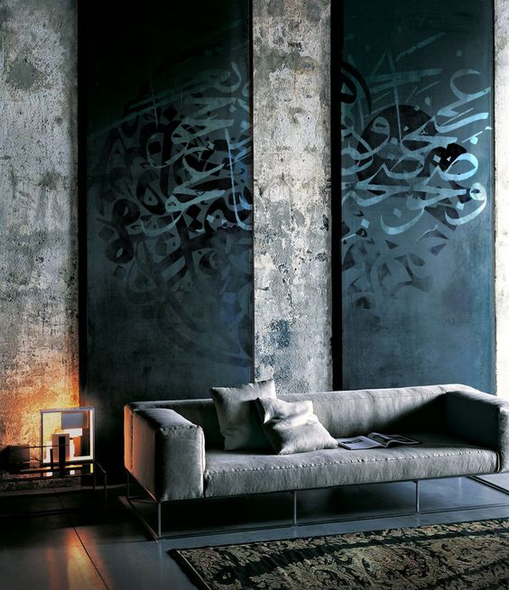 Arabic Calligraphy by Khalid Shahin Interiors luxazin