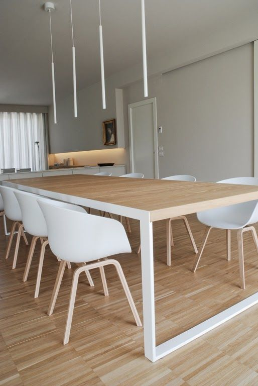 minimalistic dining room design with bright wood interior decoration luxazin