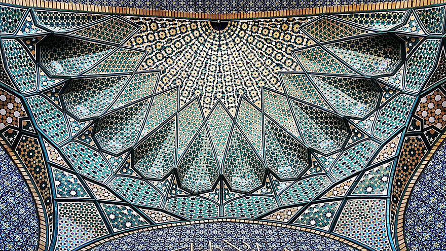 iran mosque ceilings 1