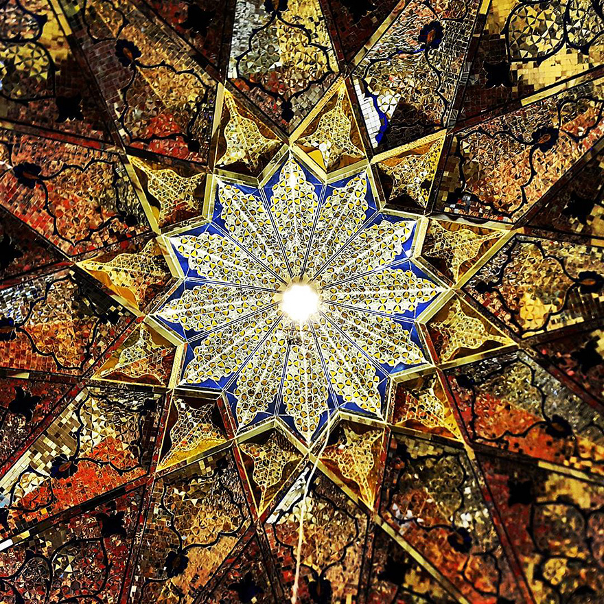 iran mosque ceilings 13
