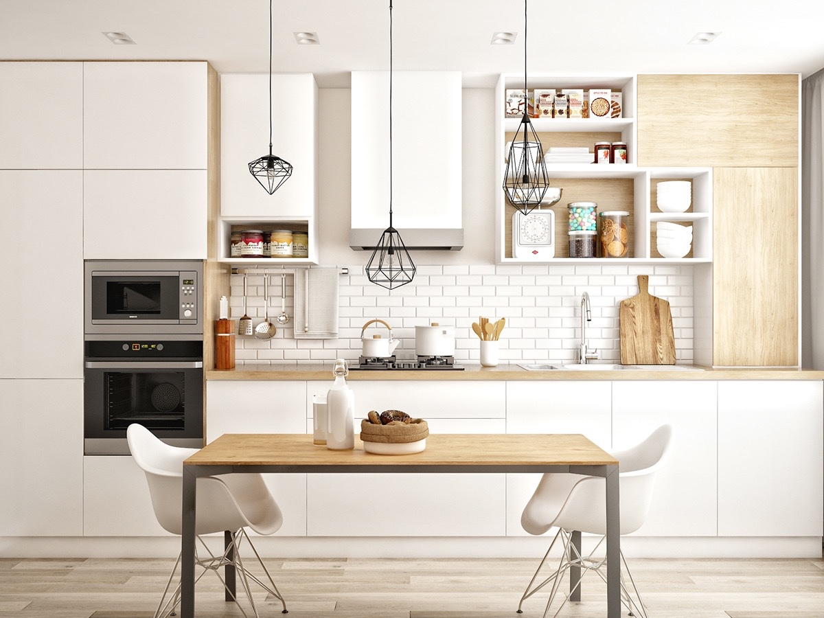 contemporary white kitchen luxazin