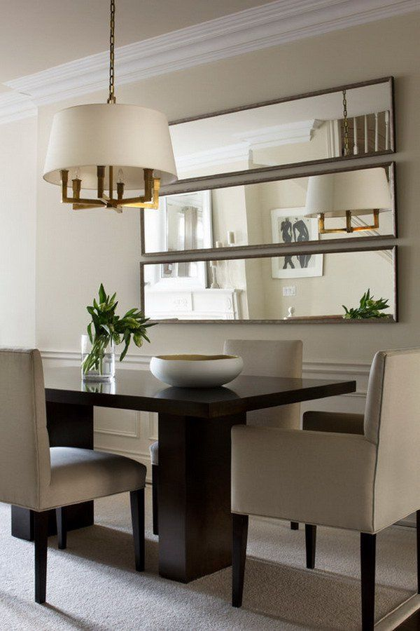 mirror wall in small dining room luxazin