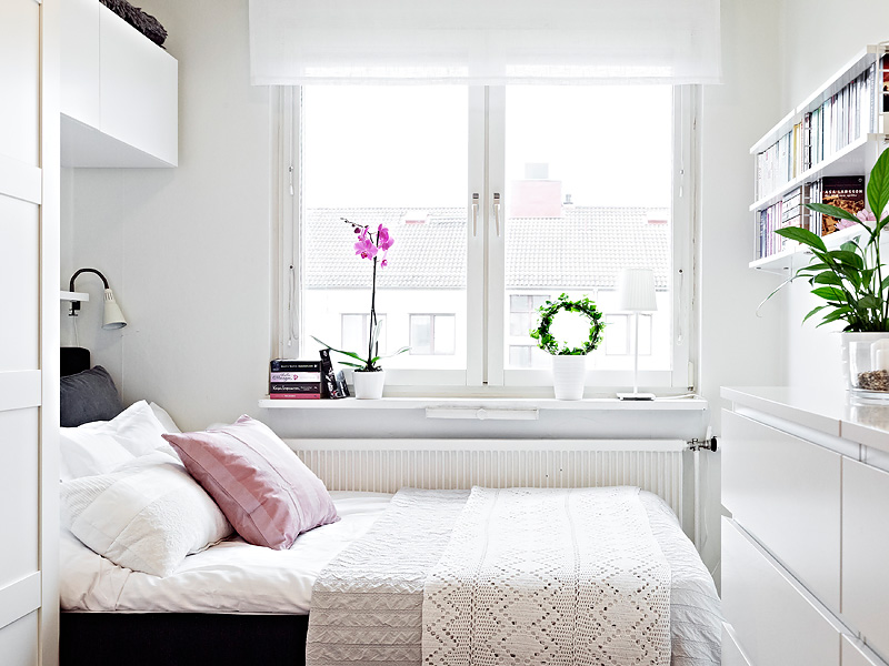 simple window in bedroom with white color luxazin
